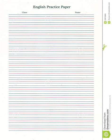 printable english lined paper ruled writing paper stock image image of guide ruled