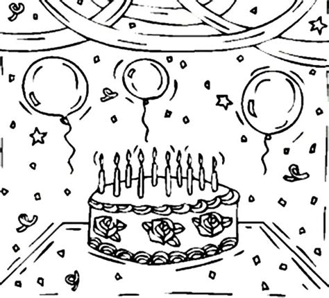 coloring pictures of birthday cakes and balloons birthday cake and balloons coloring pages birthday cake