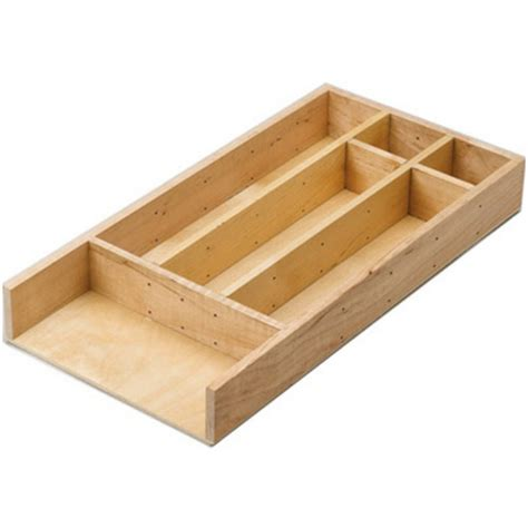 Cutlery Tray For Narrow Drawers by Lazy By Rev A Shelf Solid Birch Wood Cutlery Drawer