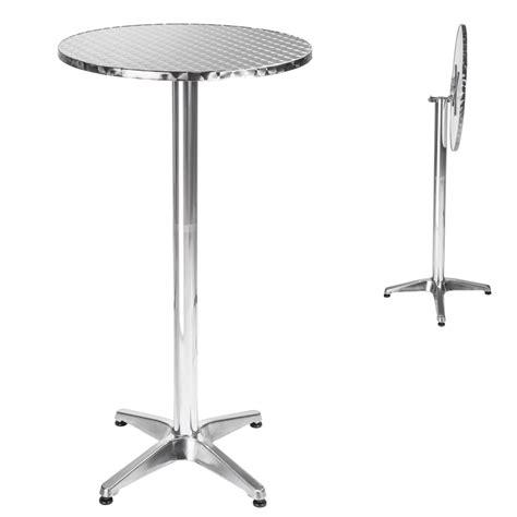 Aluminium Bistro Table Folding Aluminium Bistro Table Hinge Bar Pub Cafe Wedding Garden Patio New Ebay