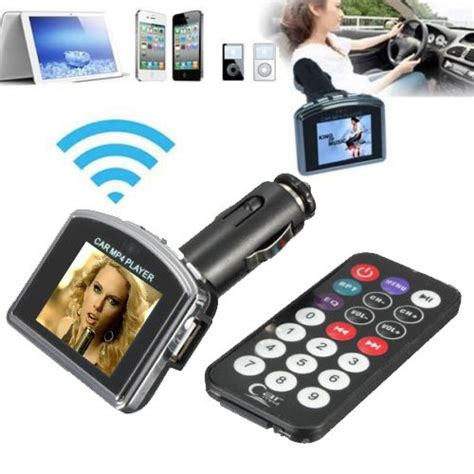 Car Fm Transmitters With Lcd 18 Inch 1 8 inch lcd display car kit mp3 mp4 player wireless fm
