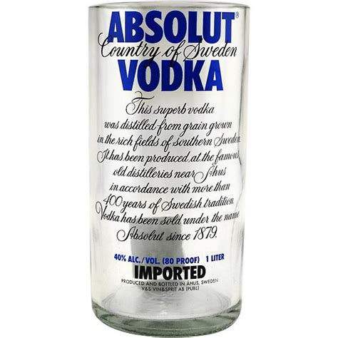 absolut vodka recycled bottle tumbler 30 oz