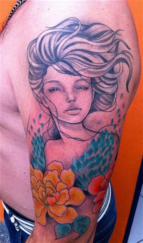 tattoo girl crying crying girl tattoo ink pinterest