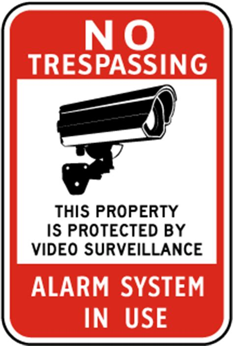 usa made alarm signs for your home or business property