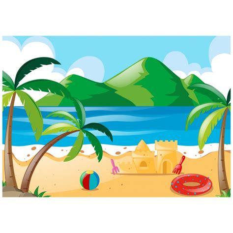 Mare Clipart by Disegno Spiaggia Sfondo A Colori Scaricare Vettori Gratis