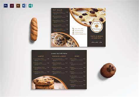 Cookie Shop Tri Fold Menu Design Template In Psd Word Publisher Illustrator Indesign Tri Fold Menu Template Photoshop