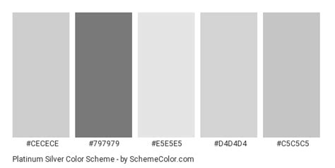 platinum color platinum silver color scheme 187 gray 187 schemecolor
