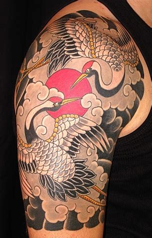 japanese crane tattoo crane images designs