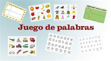 imagenes y palabras juego juego de lenguaje 191 qu 233 palabra es escr 237 bela