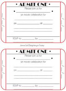 ticket invitations template free ticket birthday invitations ideas bagvania free
