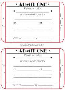 Movie ticket birthday invitation template memes