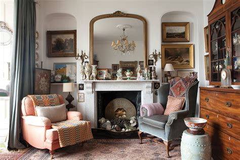 drawing room with antiques period living
