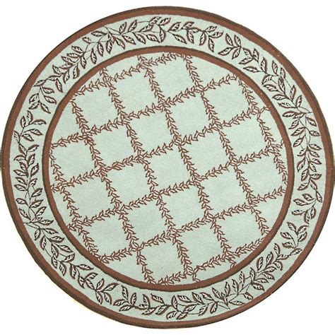 Safavieh Chelsea Blue Brown 3 Ft X 3 Ft Round Area Rug 3 Foot Area Rugs