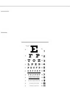 Legally Blind Visual Acuity Snellen Eye Chart Free Download