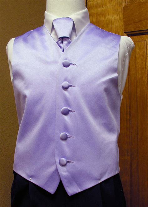boys lavender vest and bow tie or neck tie from spencer j