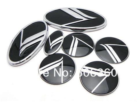 Blacked Out Kia Emblem For Kia K Logo Optima Optima Type B Black Emblem Front