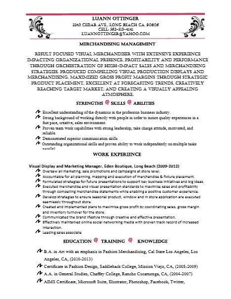 Forever 21 Visual Merchandiser Sle Resume by Retail Resume Luann Ottinger