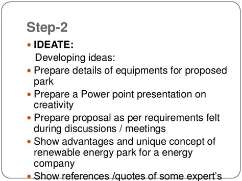 design thinking proposal design thinking for getting proposal for energy park approved