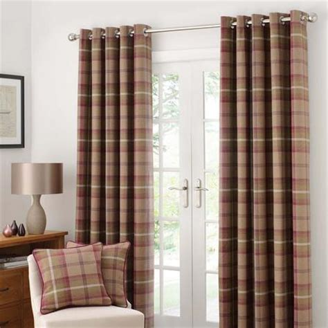 brown check curtains buy cheap red eyelet curtains compare products prices