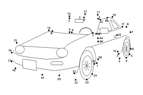 printable dot to dot cars 6 best images of printable cars connect the dots car