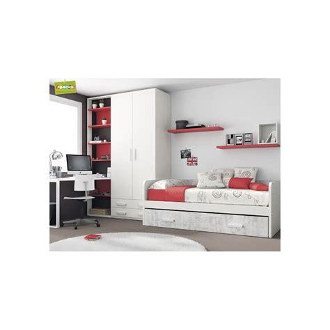 dormitorio cama nido rojo dormitorios con cama nido - Dormitorio Cama Nido