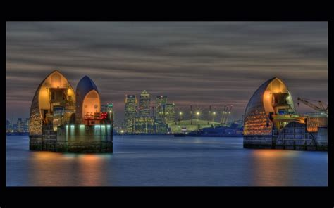 thames barrier at night panoramio photo of thames barrier at night
