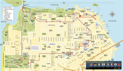 san francisco pop up map san francisco hop on hop ticket and alcatraz tour in