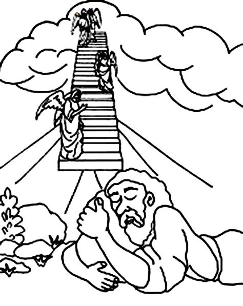 free bible coloring pages jacob s ladder jacob s ladder clipart clipground