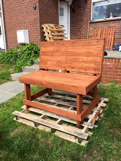 pallet outdoor bench recycled wood pallet benches pallet wood projects