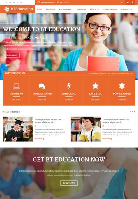 themes education joomla bt education a premium nonprofit joomla theme free