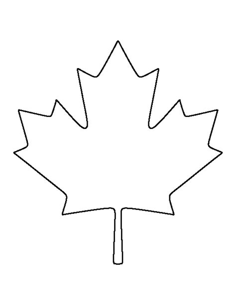 maple leaf printable template canadian maple leaf pattern use the printable outline for