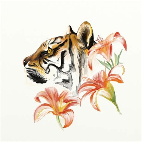 small tiger lily tattoo tiger i think i found my