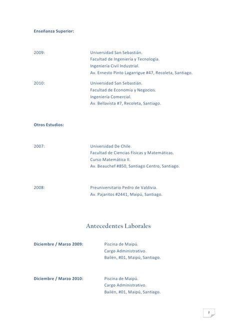 Modelo Curriculum Vitae Chile Pdf Curriculum Vitae Pdf