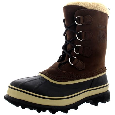 winter waterproof boots for mens sorel caribou fleece lined snow mid calf winter