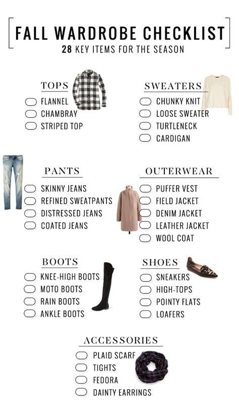 wardrobe essentials checklist fashion file fall wardrobe 28 essentials for fall the