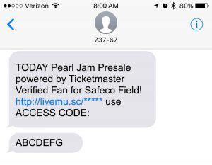 ticketmaster verified fan presale ticket shopping guide pearl jam live in seattle