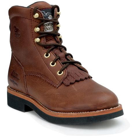 s 174 lacer brown work boots brown 186345