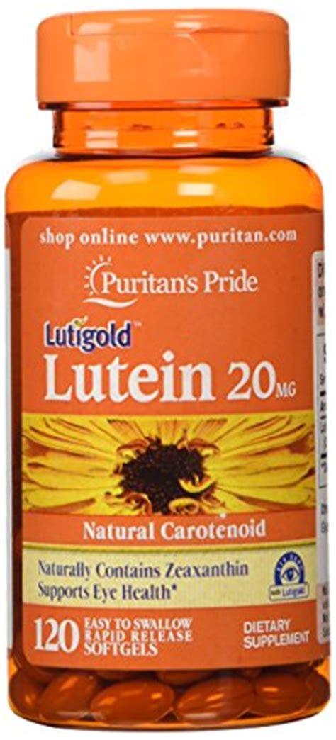 Lutigold Lutein 20 Mg W Zeaxanthin Puritans Usa 120 Softgels puritan s pride lutein 20 mg with zeaxanthin 120 softgels