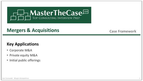 Best Mba For Mergers And Acquisitions by Mergers Acquisitions Framework