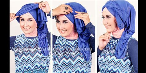 tutorial buat turban hijabers tutorial sakinah tips jilbab pesta gaya turban