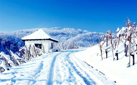snowy cottage wallpapers hd wallpapers