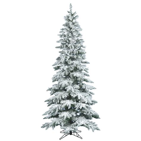 12 foot slim flocked utica fir christmas tree unlit a895090