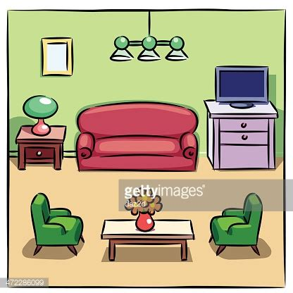 Wonderful Side Arm Chairs For Living Room #7: Colorful-drawing-of-living-room-with-furniture-vector-id472286099?s=170667a