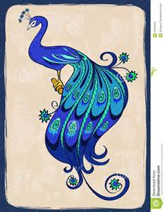 Indian Wedding Card Design Illustration With Stylized Ornamental Peacock Stock Images Image 34565034