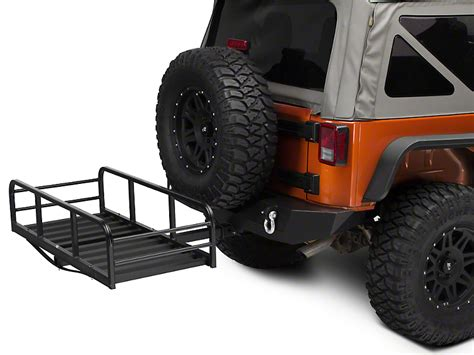 redrock  wrangler rear hitch cargo rack    wrangler yj tj jk  shipping