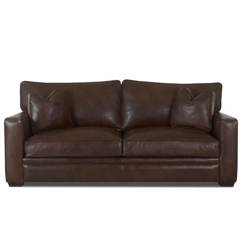 Klaussner Leather Sofa Klaussner Homestead Leather Sofa Wayside Furniture Sofas