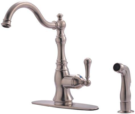 satin nickel kitchen faucets hardware house 13 5139 satin nickel kitchen faucet w sprayer