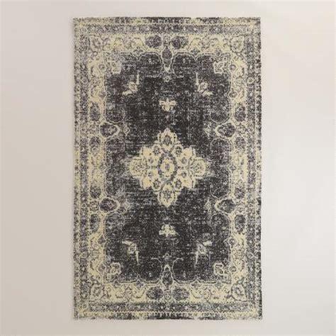 costplus world market outdoor rug 5 x8 black tufted leila area rug world market