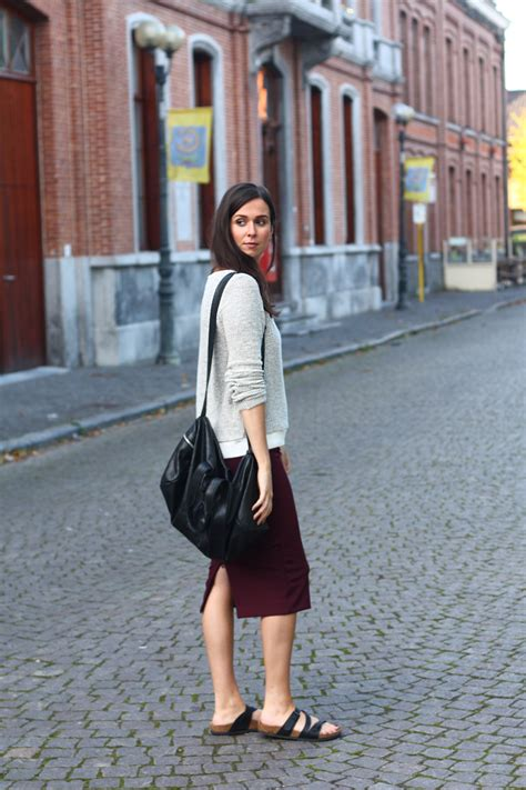 motivation pencil skirt and birkenstocks the styling