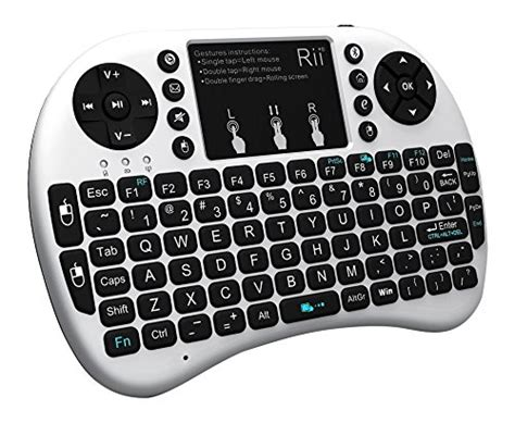 Mini Keyboard Wireless I8 With White Backlight rii i8 bt mini wireless bluetooth backlight touchpad keyboard with mouse for pc mac android